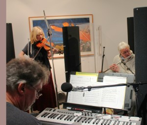 Jeff Johnson, Wendy Goodwin, Brian Dunning recording Echoes Celtic Sonic Seasonings